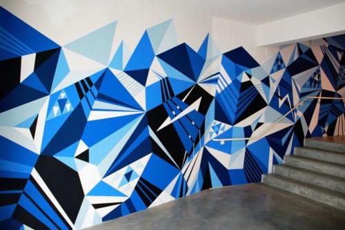 Murals by MATT W. MOORE seen at São Paulo Museum of Image and Sound, Jardim Europa - MWM Diamonds.