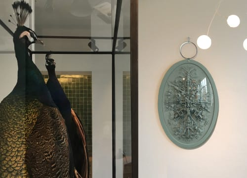 Art & Wall Decor by Carina Wagenaar seen at Private Residence - XXL Medallion Artwork 'What the heck?!'