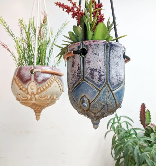 Vases & Vessels by Round Trip Clayworks seen at Private Residence, New Britain - Hanging Planters