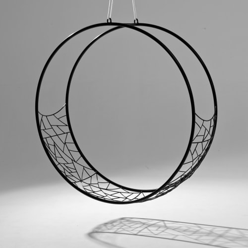 Wheel Hanging Swing Chair - Twig Pattern | Chairs by Studio Stirling
