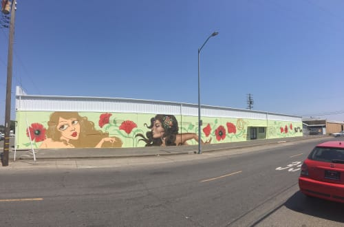 Murals by Ursula Xanthe Young seen at Power Inn Road, Sacramento - Wide Open Walls x Few & Far Women 2017 wall