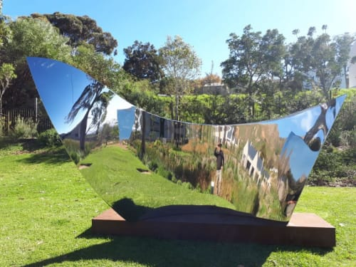 Public Sculptures by Mark L Swart seen at Norval Foundation, Cape Town - Voyage