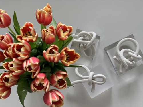 Sculptures by Purely Porcelain seen at Private Residence, Philadelphia - Folded Porcelain Knots