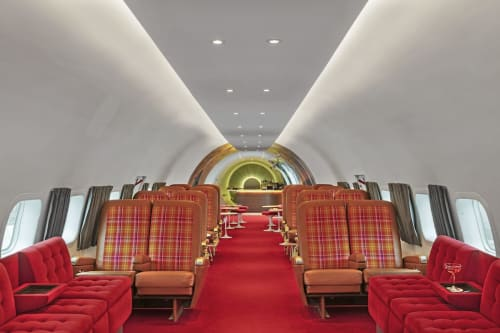 Couches & Sofas by Samuelson Furniture seen at Connie Cocktail Lounge at the TWA Hotel, Queens - Couches & Sofas