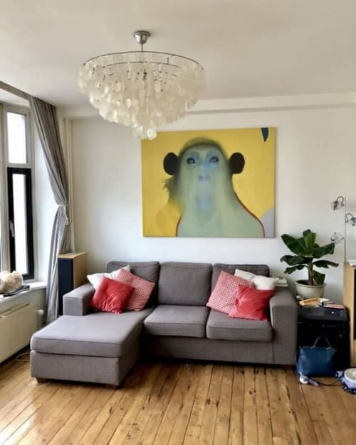 Paintings by Matthew Hance seen at Private Residence - Ape Painting