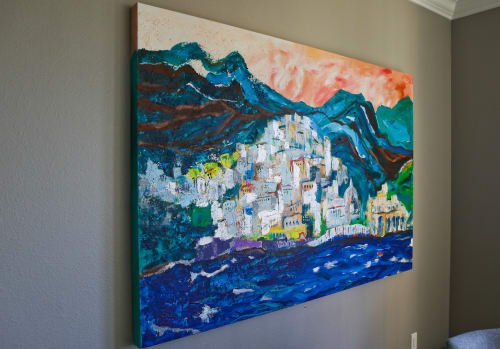 Paintings by Inese Westcott seen at Private Residence, Mercer Island - Positano, Italy