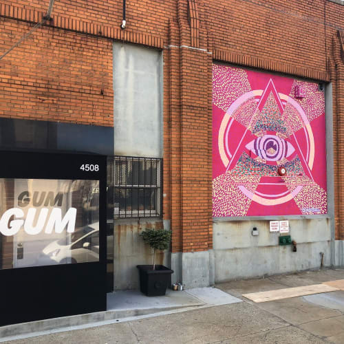 Street Murals by C. FInley seen at GUM Studios Brooklyn, Brooklyn - GUM