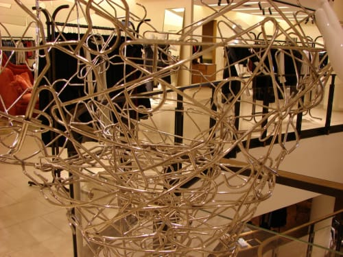 Sculptures by Amuneal seen at Barneys New York, Las Vegas, Las Vegas - Hanger Horse Fabrication