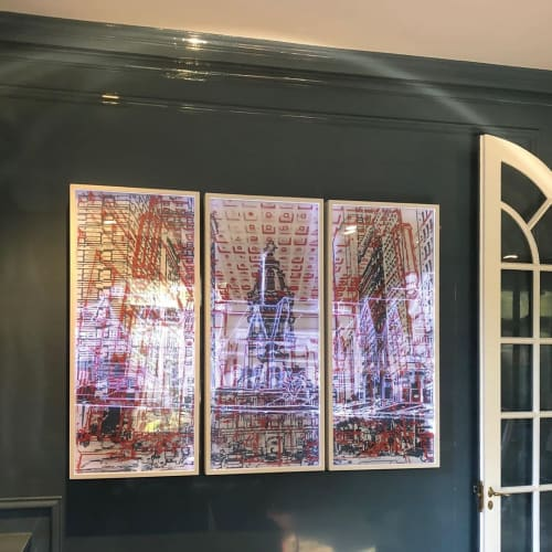 Art & Wall Decor by Maria Schneider Arte seen at Private Residence, Philadelphia - Invisible Cities - Boathouse Row