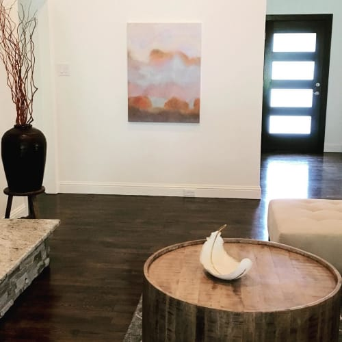 Paintings by Stacey Warnix Studio seen at Private Residence, Dallas - Mesquites at Sundown