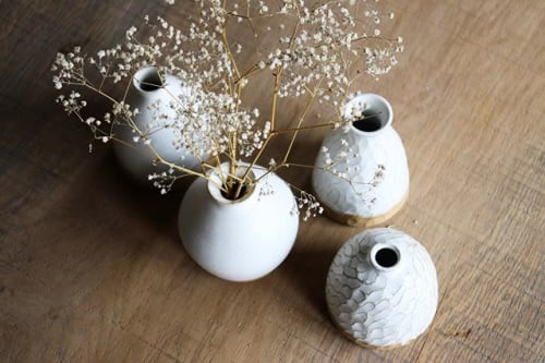 Vases & Vessels by Ceramics by Charlotte seen at Private Residence, Maffe - White vase