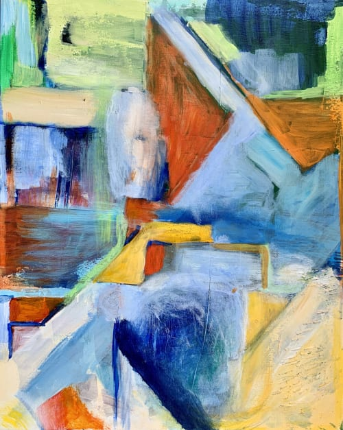 Paintings by Maria-Victoria Checa Art seen at Bethesda, Bethesda - Zoom Zone - Abstract Colorful Painting