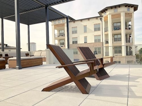 Chairs by Stål Timber seen at Dallas, Dallas - Stal Timber Deck Patio Chairs