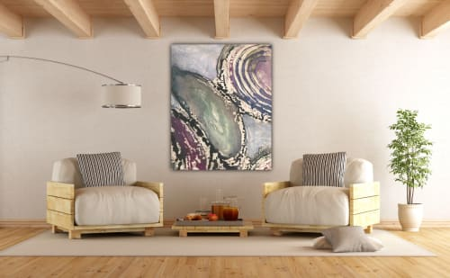 Paintings by Anne Beletic Fine Impressionist/abstract art seen at Private Residence, Dallas - Shells
