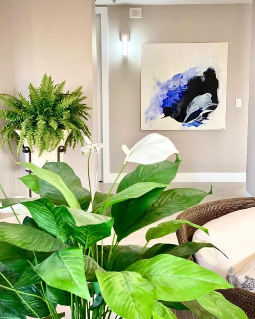 Paintings by Nicolle Cure seen at Private Residence, Miami - You Are My Universe
