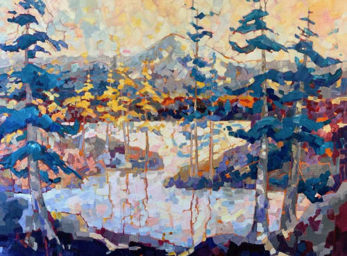 Paintings by Teresa Smith seen at Private Residence, Friday Harbor - Mountain Baker