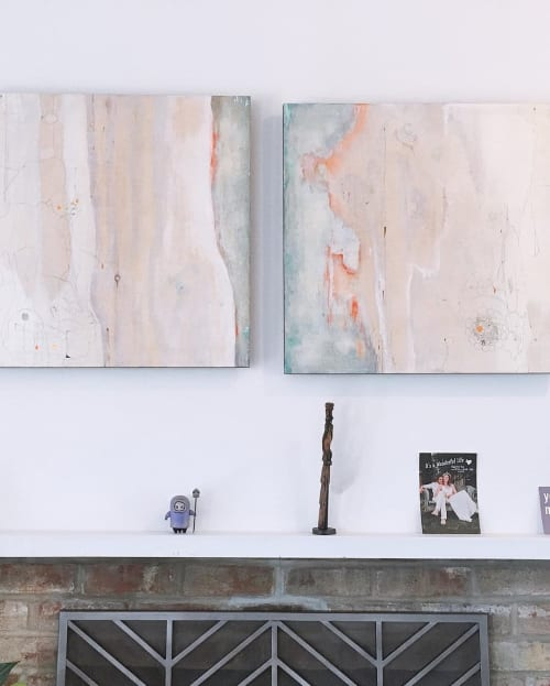 Paintings by Andreina Davila seen at Private Residence, San Francisco - Bark 1 and 2