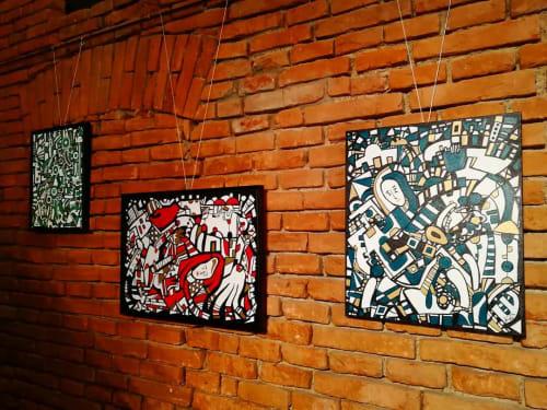 Paintings by Vergru-art by Veronika Spleiss seen at Pfarrstadl, Weßling - Paintings
