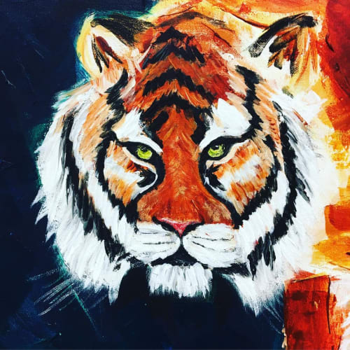 Paintings by Grant McGrath seen at Private Residence, New York - Tale of the Tiger