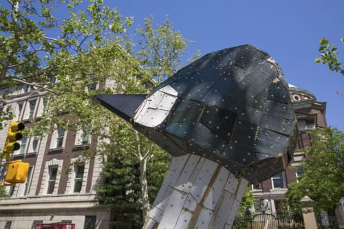 Public Sculptures by Nicolas Holiber seen at School of General Studies of Columbia University, New York - Common Goldeneye