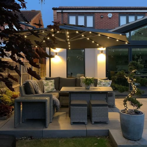 Tables by Kettler GB seen at Kier - The Rhodes Home, Doncaster - Patio Table and Chairs