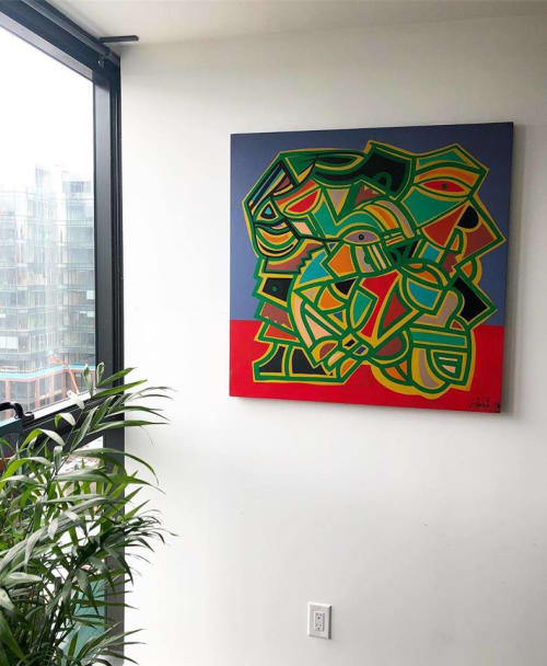 Paintings by Jimmy Chiale seen at Private Residence, Toronto - Abstract painting