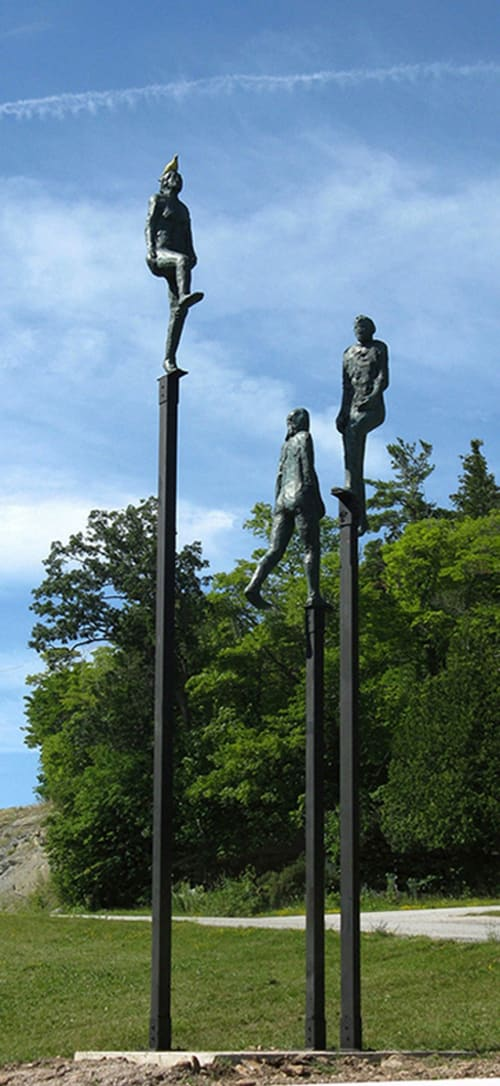 Public Sculptures by Ted Fullerton seen at Kagawong - Ascend-Transcend