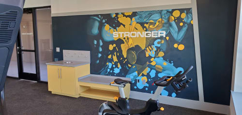 Murals by Keith Doles seen at Lofts at Brooklyn, Jacksonville - Stronger
