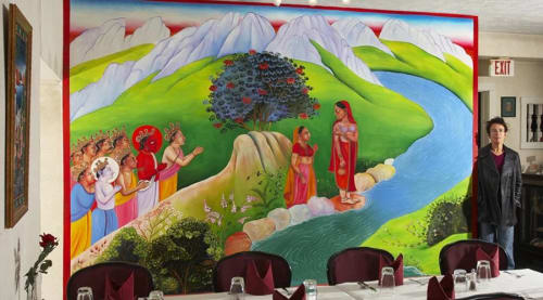 Murals by Jeramy Turner Murals seen at Tandoor Palace Restaurant & Bar, Tannersville - Interior Mural