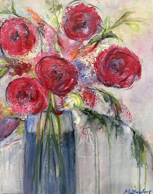 """Paintings by Marilyn Landers seen at Private Residence, Roswell - """"in the Red"""""""