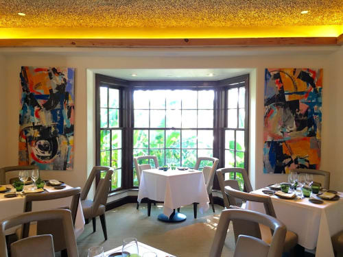 Paintings by Joseph Conrad-Ferm seen at Cafe Boulud, Palm Beach - Istanbul and Shogun