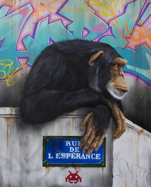 Paintings by Dave Baranes seen at Agence Gille - L'Adresse, Nogent-sur-Marne - Hope
