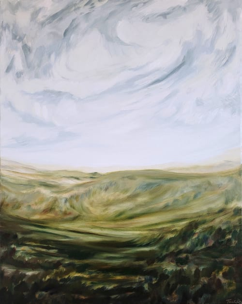 Paintings by Terrah Ray Fine Art Studio seen at Private Residence - Impressionist Landscape Oil Painting