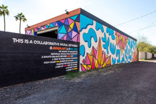 Murals by Nicole Pannuzzo seen at 1200 W Laird St, Tempe - Collaborative Tempe Mural
