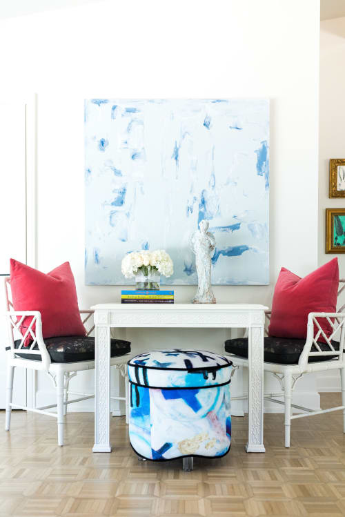 Chairs by Sara Bost Fisher seen at Private Residence, Tulsa - Velvet Stool