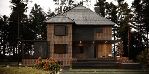 Architecture by HD-m2 seen at Private Residence, Kyiv - HD#7017exterior
