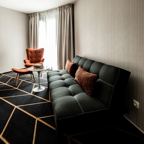 Rugs by Fyber seen at Science Hotel, Szeged - Geometric Carpet by Radici
