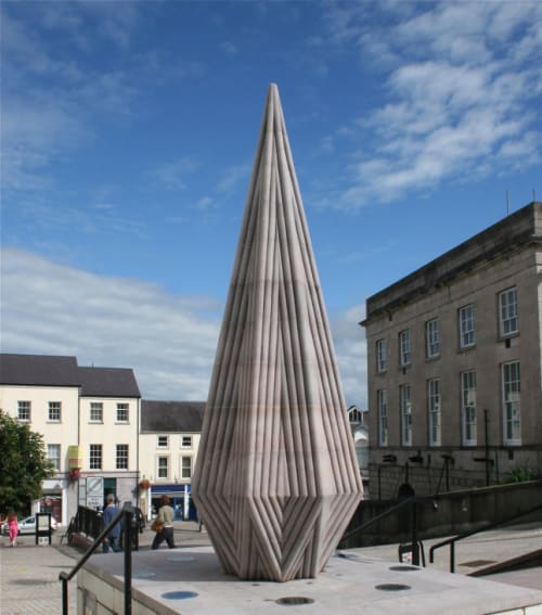 Public Sculptures by Richard Perry seen at Market Street, Armagh - StarStone