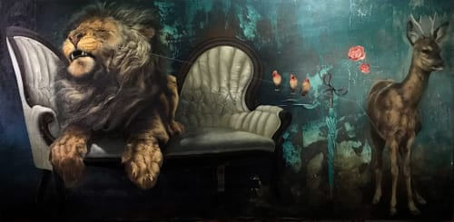 Paintings by O.M. Norling seen at Private Residence, Atlanta - THE LIAR'S CHAIR AND AN INDISPENSABLE BURDEN