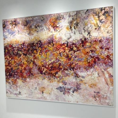 Paintings by Adam Halls Art seen at Private Residence, London - Unearthed. A mixed media artwork inspired by corrosion.