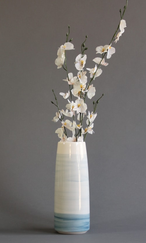 Vases & Vessels by Briggs Shore Ceramics seen at Private Residence, Coupeville - Blue Sea Vase