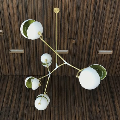 Chandeliers by Neptune Glassworks seen at Corporate Headquarters - Northern California - Blossom Chandelier