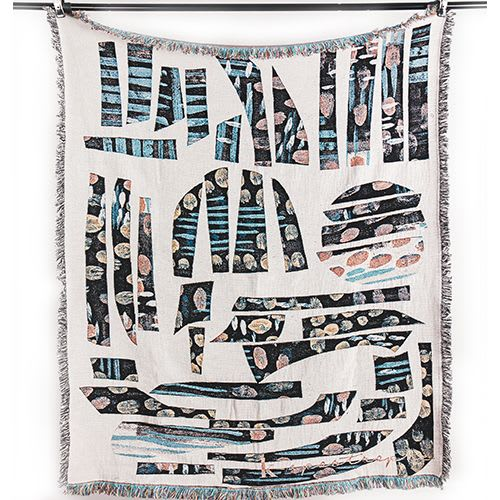 Linens & Bedding by K'era Morgan seen at Private Residence, Los Angeles - Hieroglyph Woven Blanket