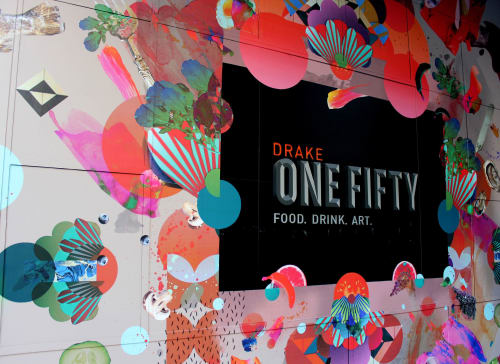 Murals by Nicole Beno seen at Drake One Fifty, Toronto - Drake One Fifty Mural
