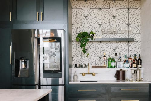 Tiles by Zia Tile seen at Private Residence, Kansas City - Victory Tile