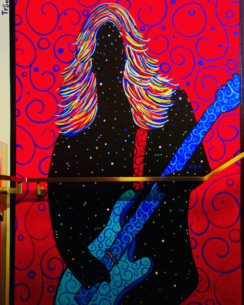 Murals by Tyson King seen at Andaz West Hollywood, West Hollywood - The Riot House Mural