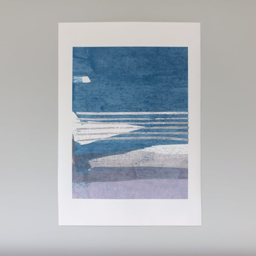 Color Block No. 1 - Silver Embellished Print | Paintings by Julia Contacessi Fine Art