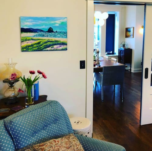 """Paintings by Eryn Tehan seen at Private Residence, Seattle - """"Summers At Cannon Beach"""" Painting"""