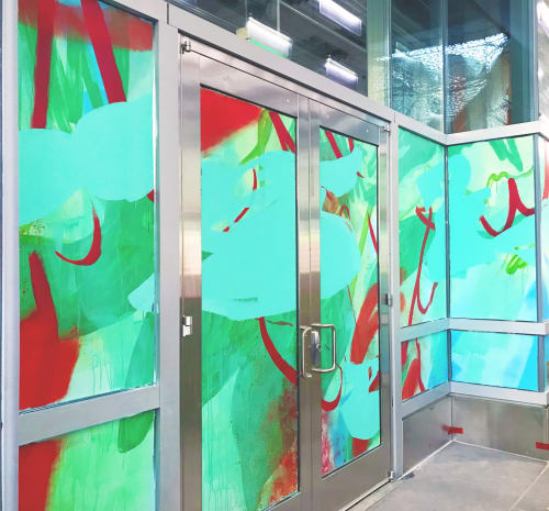 "Murals by Nicole Mueller seen at Salesforce Transit Center, San Francisco - ""Dynamism"" Salesforce Transit Center Mural"
