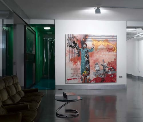 Paintings by Almudena Rodriguez seen at Private Residence, Madrid - Less profit, selling more